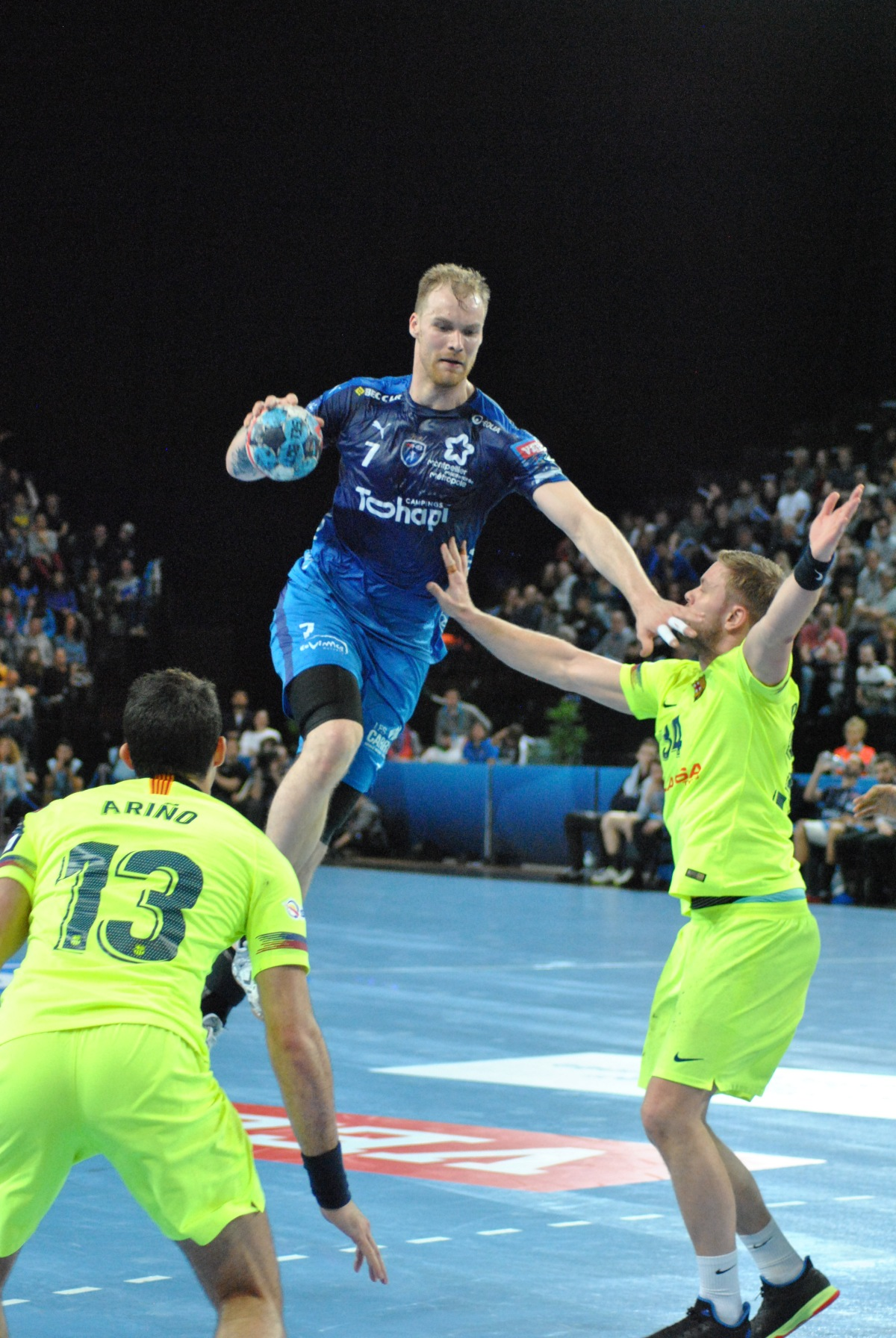 Retour en images match handball : MHB-Barcelone