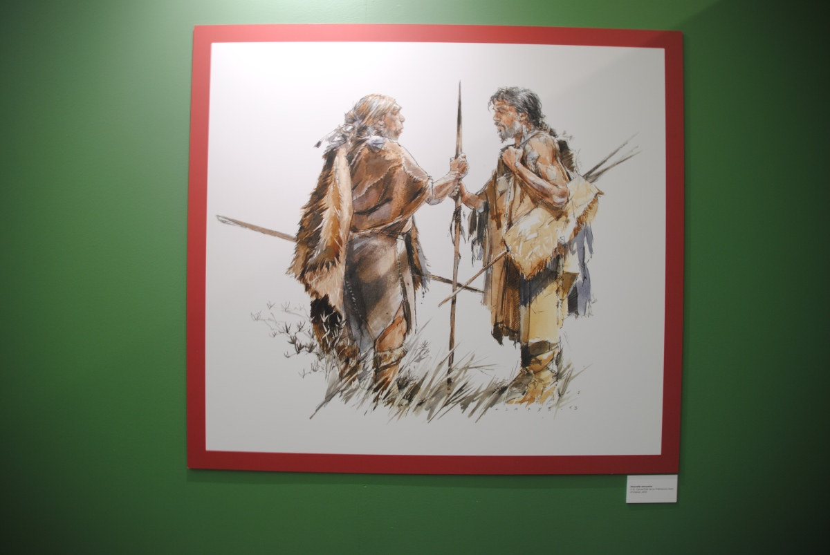 Retour en images sur le vernissage «Neandertal» àPierrevives.