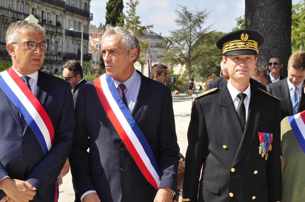Retour images : prise de fonction du nouveau préfet de l'Hérault.