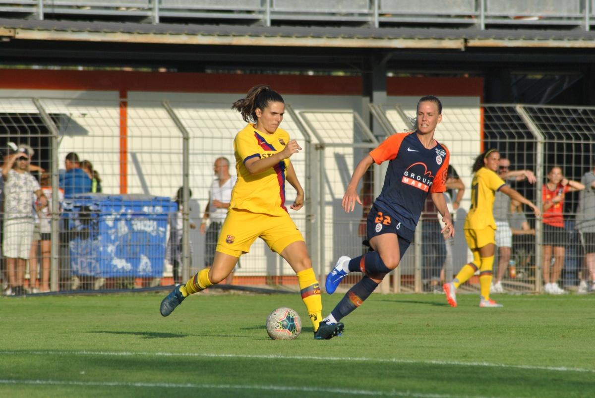 retour en images du Match MHSC –Barcelone
