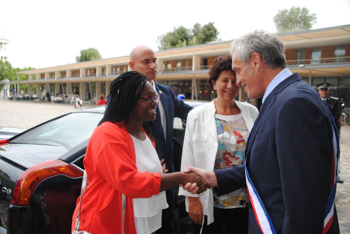 Retour images : visite de la Ministre Frédérique Vidal et de Sibeth Ndiaye  Porte-Parole dugouvernement.