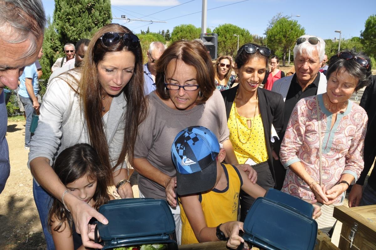 retour en images : Inauguration des composteurs par la ville deMontpellier.